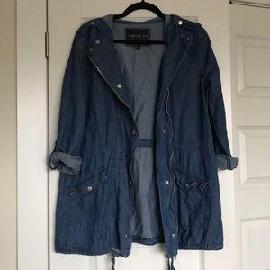 🌻4/$40🌻 Chambray zip jacket